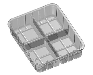 4 Cavity Meat Tray