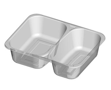 Microwave Meal Tray 2 Cavity