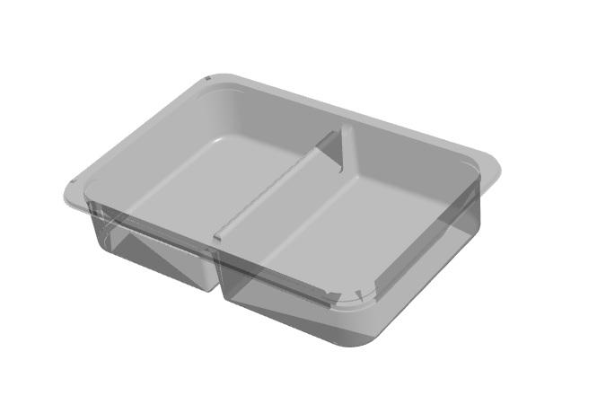 2 Cavity Open Tray - D13 Format